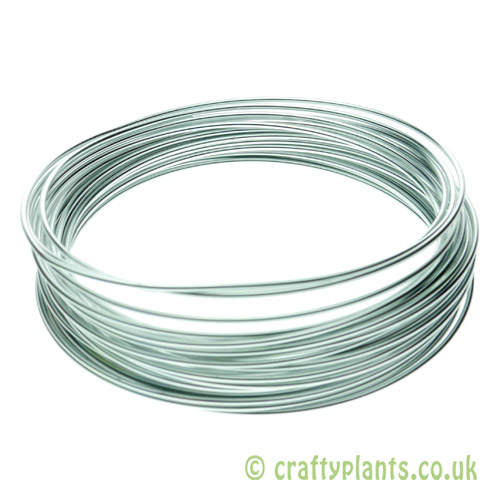 Silver Tillandsia Wire 10m roll from Craftyplants