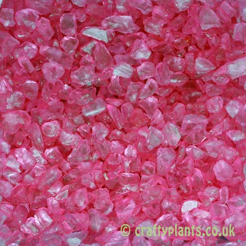 Pink glass gravel chippings 250g by craftyplants.co.uk