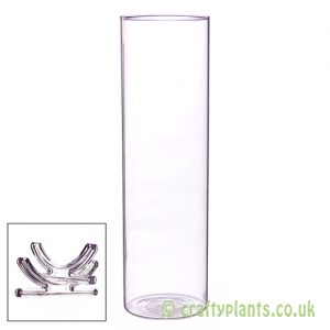 37cm glass vase with feet by craftyplants
